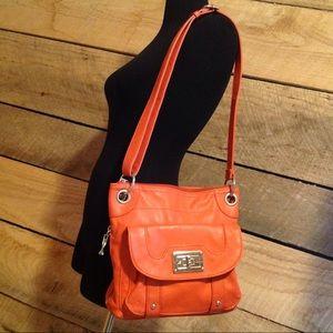 Tyler Rodan Purse Orange Medium Shoulder Bag